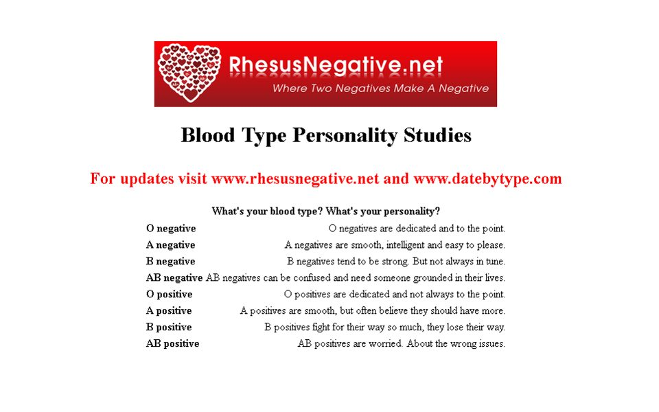 Can rh negative people recognize each other? - Rhesus Negative