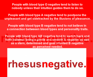 Blood types and personality traits Part 100